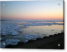 Acrylic Print featuring the photograph Hints Of Spring South Haven Pier by Penny Hunt