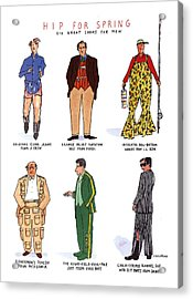 Hip For Spring Six Great Looks For Men Acrylic Print by Michael Crawford