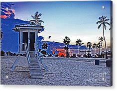 Hippie Beach Acrylic Print by Alison Tomich