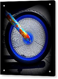 Acrylic Print featuring the photograph Hippie Bike by Laurie Perry