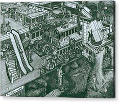 Hippie Bus Apartments Acrylic Print