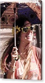 Hippie Chick Acrylic Print by Sharon Costa