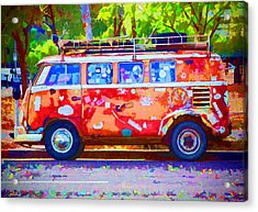 Acrylic Print featuring the photograph Hippie Van by Jaki Miller
