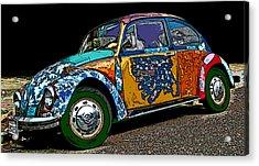 Hippie Vw Bug Acrylic Print