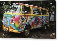 Vintage 1960's Vw Hippie Bus Acrylic Print
