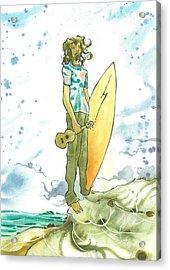 Hippy Surf Acrylic Print