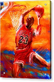 His Airness Acrylic Print