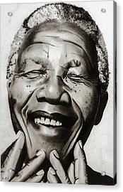 His Excellency Nelson Mandela Acrylic Print by Brian Broadway