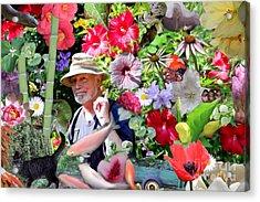 His Garden Acrylic Print by Erica Hanel