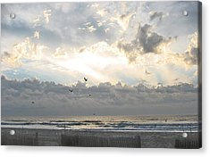 His Glory Shines Acrylic Print by Judith Morris