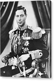 His Majesty King George Vi Acrylic Print by Underwood Archives