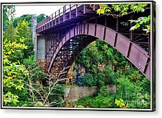 Acrylic Print featuring the photograph Historic Ausable Chasm Bridge by Patti Whitten