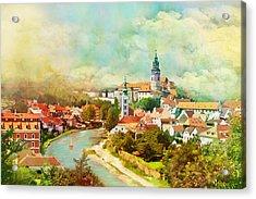 Historic Centre Of Cesky Krumlov Acrylic Print by Catf