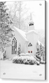 Acrylic Print featuring the photograph White Christmas In Oella Maryland Usa by Vizual Studio