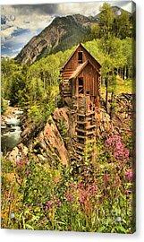 Historic Crystal Colorado Acrylic Print by Adam Jewell