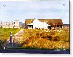 Historic D Ranch In Point Reyes California Dsc2399wc Acrylic Print by Wingsdomain Art and Photography