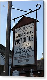 Historic Deerfield Post Office Acrylic Print by DustyFootPhotography