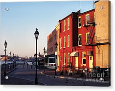 Historic Fells Point Acrylic Print by Thomas R Fletcher