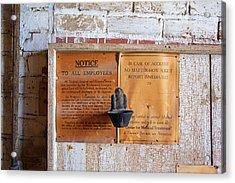 Historic Flour Mill Notice Acrylic Print