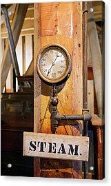 Historic Flour Mill Steam Gauge Acrylic Print