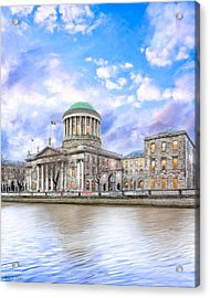 Historic Four Courts In Dublin Ireland Acrylic Print by Mark E Tisdale