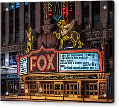 Acrylic Print featuring the photograph Historic Fox Theatre In Detroit Michigan by Peter Ciro