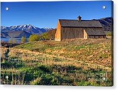 Historic Francis Tate Barn - Wasatch Mountains Acrylic Print