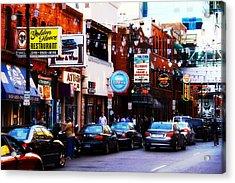Historic Greek Town Detroit Michigan Acrylic Print