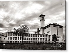 Historic Grundy Mills Acrylic Print by Olivier Le Queinec