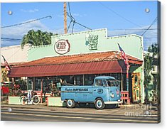 Historic Haleiwa Surf Town On The North Shore Of Oahu Acrylic Print