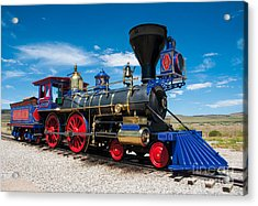 Historic Jupiter Steam Locomotive - Promontory Point Acrylic Print