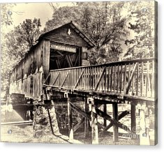 Historic Kymulga Covered Bridge Toned Acrylic Print