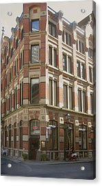 historic Montreal  EARLY MORNING WATERING Acrylic Print by Ann Powell