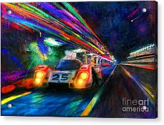 Vics Night Out Acrylic Print by Alan Greene