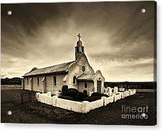 Historic Old Adobe Spanish Style Catholic Church San Ysidro New Mexico Acrylic Print by Jerry Cowart