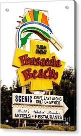 Historic Pensacola Beach Sign Acrylic Print