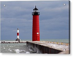 Acrylic Print featuring the photograph Historic Pierhead Lighthouse by Kay Novy