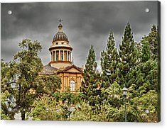 Acrylic Print featuring the photograph Historic Placer County Courthouse by Jim Thompson