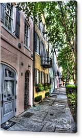 Historic Rainbow Row Acrylic Print