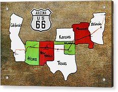 Historic Route 66 - The Mother Road Acrylic Print