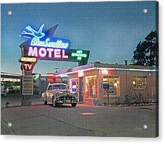Historic Rt. 66 Blue Swallow Motel Acrylic Print by Gordon Beck