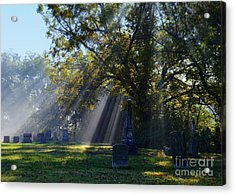 Historic Sibley Cemetery At Fort Osage Missouri Acrylic Print by Catherine Sherman