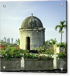 Historic Spanish Colonial Walls Acrylic Print by Jerry Ginsberg