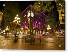 Acrylic Print featuring the photograph Historic Steam Clock In Gastown Vancouver Bc by JPLDesigns