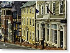Historic Street In Providence Ri Acrylic Print