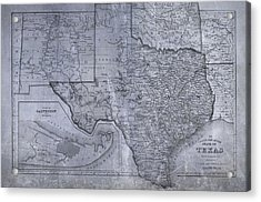 Historic Texas Map Acrylic Print by Dan Sproul