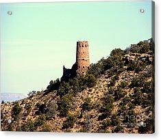 Historic Tower Of Grand Canyon Acrylic Print by John Potts