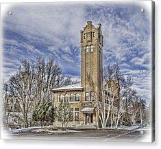 Historic Train Station Acrylic Print by Fran Riley