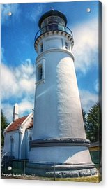 Acrylic Print featuring the photograph Historic Umpqua River Lighthouse by Tyra  OBryant