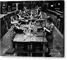 Historical 20st Century People Black And White Artwork 115 Acrylic Print by Boon Mee